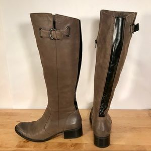 Born Crown Tall Soft Leather Riding Boots Taupe